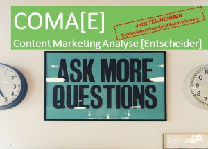 COMAE Entscheider Studie Content Marketing